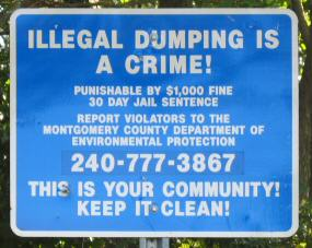 Sign: Illegal Dumping